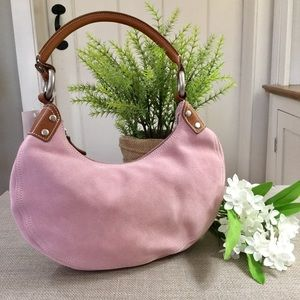 NWT GAP Blush Pink Suede Hobo Shoulder Bag